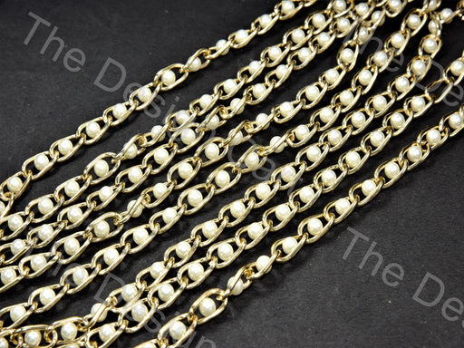Pearl Golden Hooks Metal Chain - The Design Cart