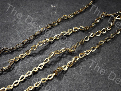 Leaf Golden Hooks Metal Chain