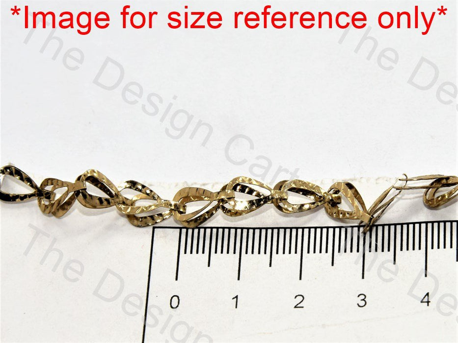 Leaf Golden Hooks Metal Chain - The Design Cart