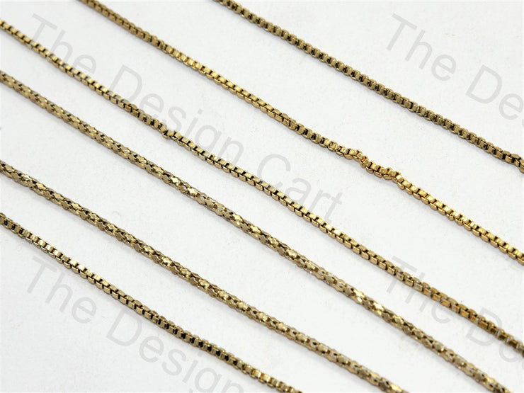 Small Square Golden Hooks Metal Chain (556877185058)