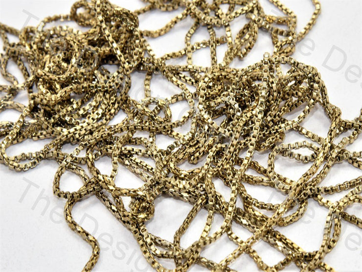 Small Square Golden Hooks Metal Chain - The Design Cart (556877185058)
