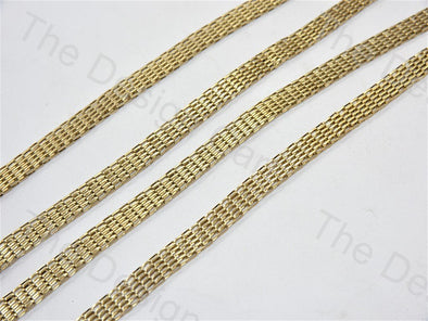 Belt Design Light Golden Metal Chain