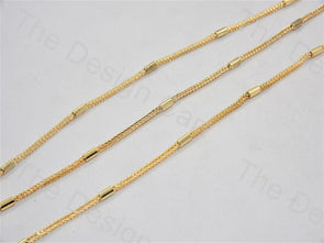 Cord Design Golden Metal Chain