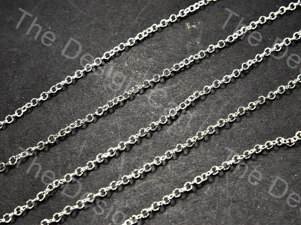 Circle Design Silver Metal Chain