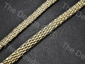 Dotted Belt Design Golden Metal Chain