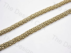 Dotted Belt Design Bronze Metal Chain