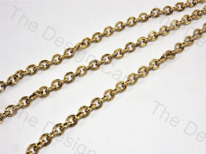 Metallic Round Design Bronze Metal Chain