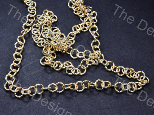 Round Cut Design Golden Metal Chain - The Design Cart