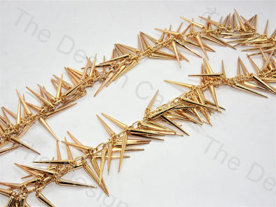 Spikes Design Golden Metal Chain