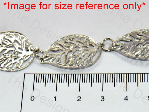 Leaf Design Silver Metal Chain - The Design Cart