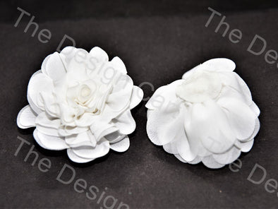 Fabric flower the design cart white fabric flower mightylinksfo Images