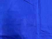 Dark Blue Plain Mill Dyed Poly Silk Fabric