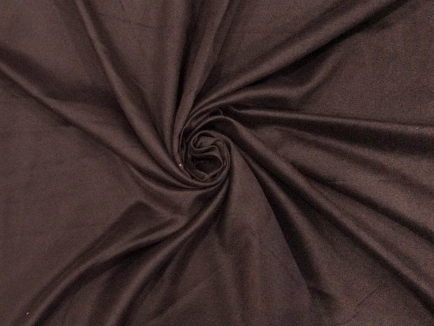 Dark Brown Plain Suede Fabric