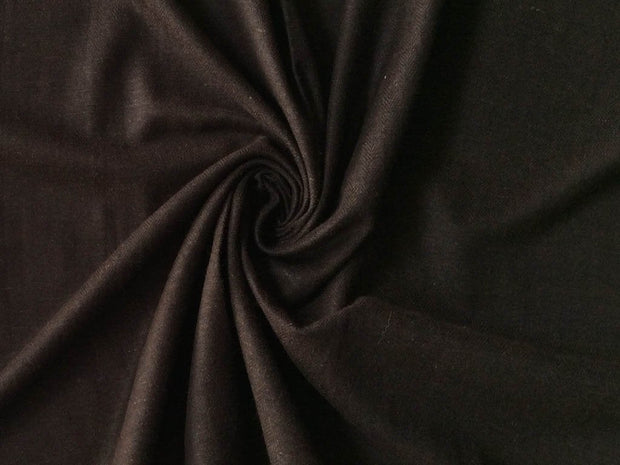 Dark Brown Plain Wool Fabric