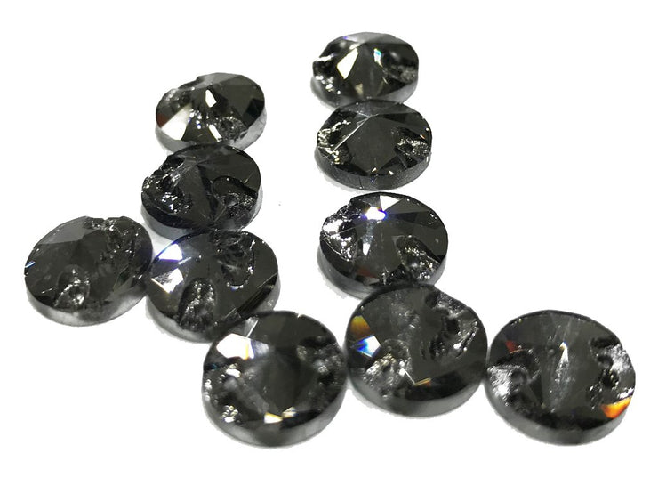 Dark Gray Circular Glass Stones (10 mm) (4528585965637)