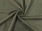 Dark Gray Plain Tweed Wool Fabric