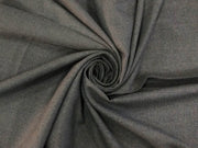 Dark Gray Plain Wool Fabric