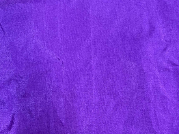 Deep Purple Plain Mill Dyed Poly Silk Fabric