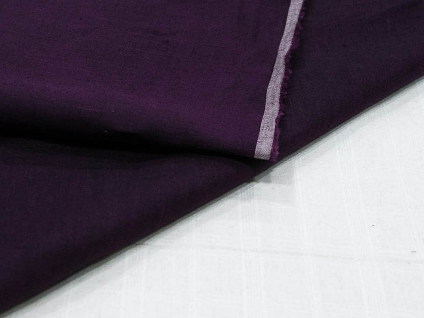 Deep Purple Plain Ramie Linen Fabric