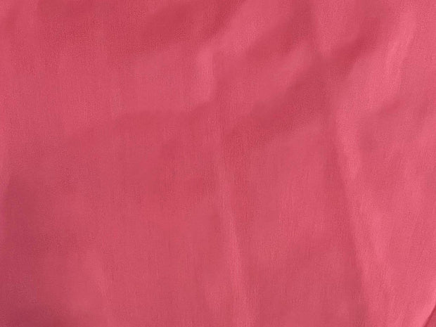 Deep Red Plain Mill Dyed Poly Silk Fabric