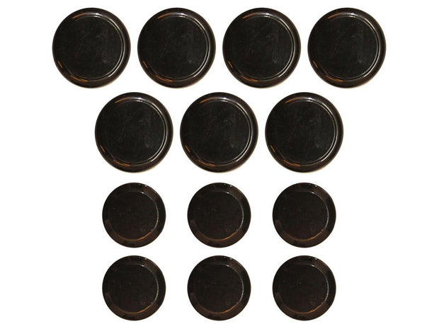 Deluxico India Fancy Metal Black  Round Designer Buttons