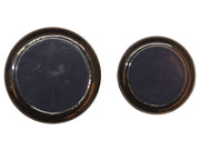 Dark Blue Plain Circular Metal Button