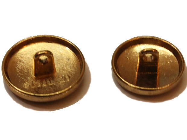 Dull Golden Designer Metal Button