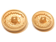 Brown Designer Circular Metal Button