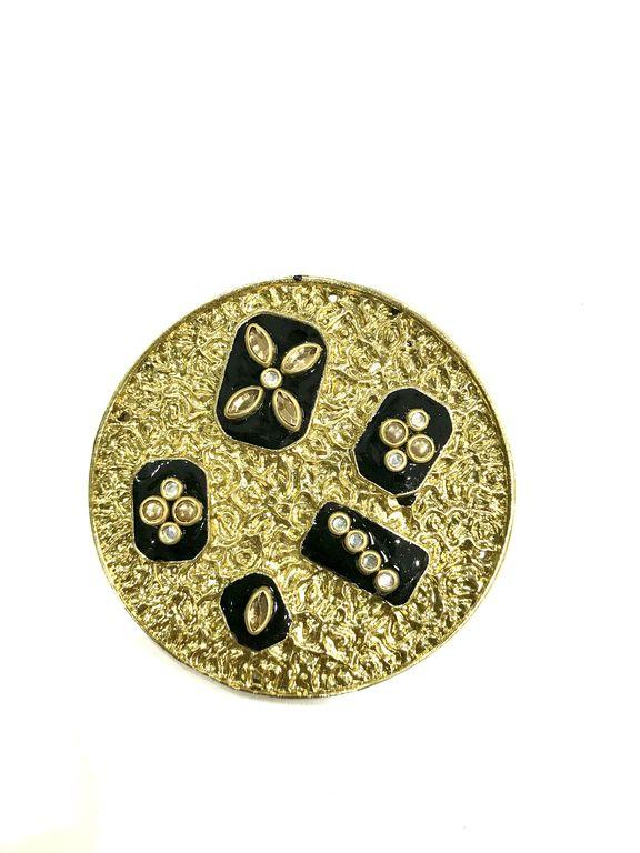 Golden Designer Circular Metal Piece (60 mm)