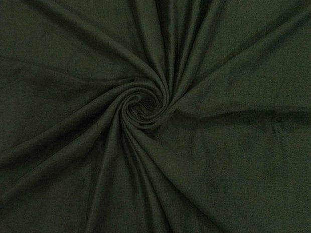 Dull Black Plain Suede Fabric