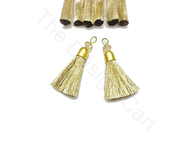 Rose Gold Zari Tassels | The Design Cart