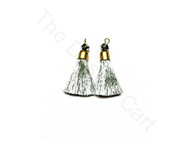 Silver Zari Tassels | The Design Cart