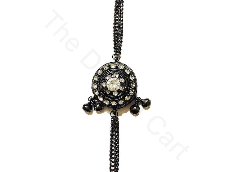 Black Fancy Buttons with Chains | The Design Cart (3679241502754)