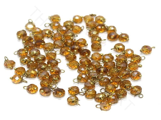 Transparent Golden Loreal Beads