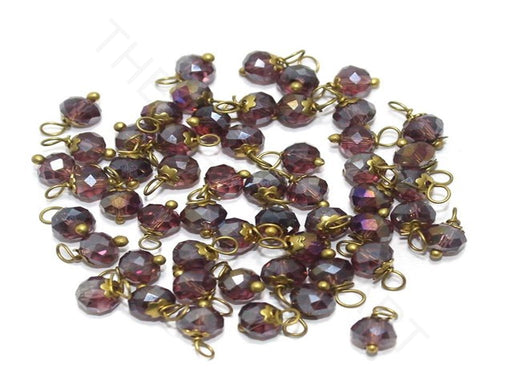 Transparent Purple Loreal Beads (4 mm)