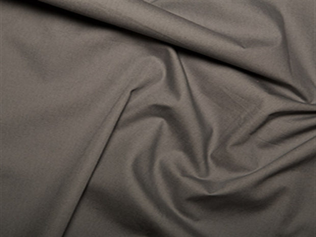 Charcoal Gray Cotton Poplin Fabric | The Design Cart