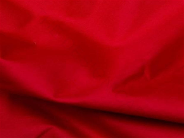 Red Cotton Poplin Fabric | The Design Cart