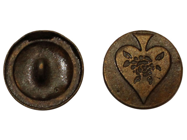 Brown Betel Leaf Designer Metal Button