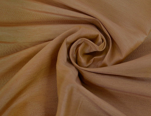 Fawn Yellow Plain Silk Linen Fabric