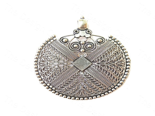 Design 1 German Silver Round Pendant