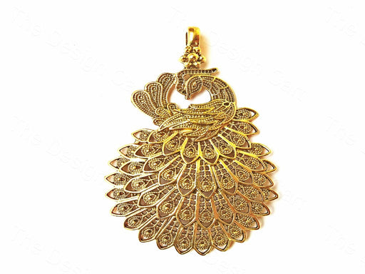 Golden Peacock Pendant