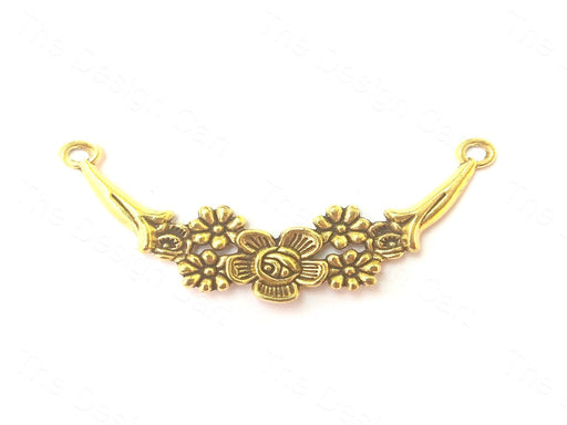 Antique Golden Flower Connector Pendant