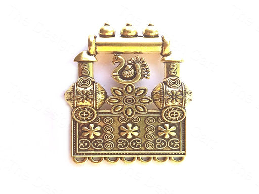 Golden Peacock Frame Pendant