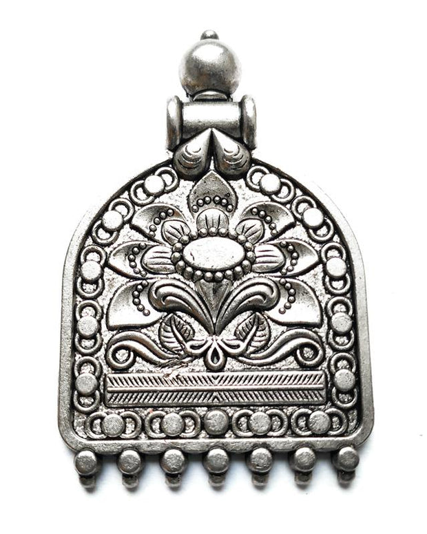 Silver Designer German Silver Pendant with Loops