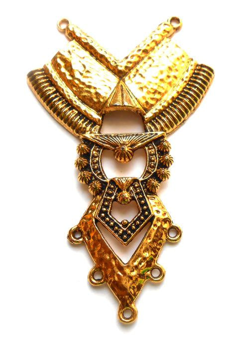 Golden Designer German Silver Pendant (70x40 mm)