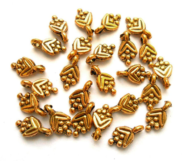 Golden Flower German Silver Charms
