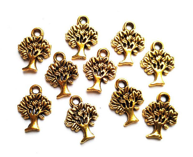 Golden Tree German Silver Charms