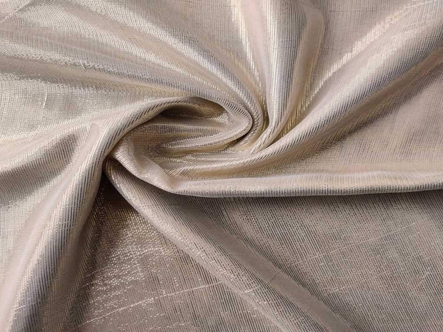 Golden Shimmer Plain Brocade Fabric