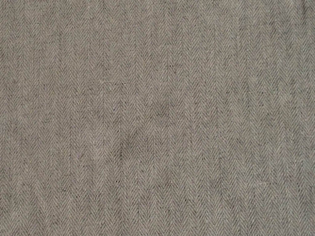 Gray Herringbone Wool Fabric