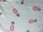 Green Pineapples Printed Sinker Cotton Fabric